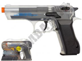 Baby 941 CO2 BB Gun | Desert Eagle Official 6mm Airsoft Pistol | Black & Clear 2 tone